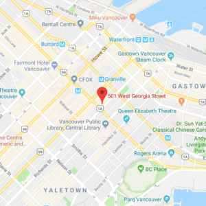 Pacific Car Rentals Map of Office Locations