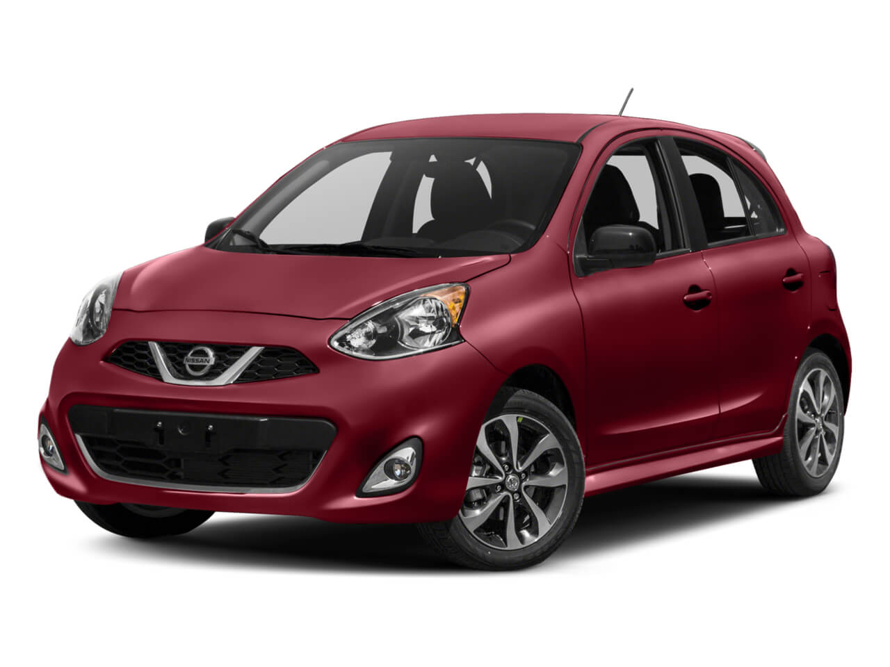 red Nissan Micra economy car for rent