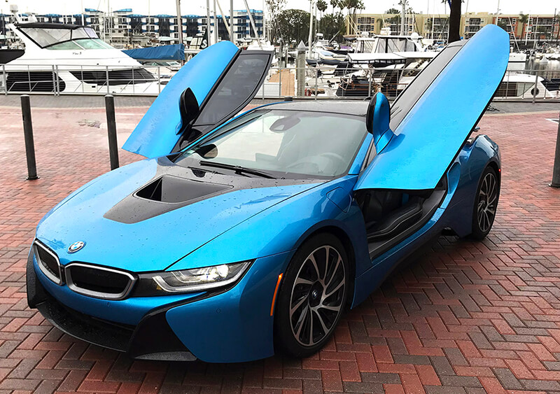 BMW i8 Hybrid with gull wing doors