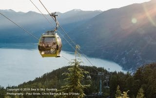 view from top of Sea-To-Sky gondola in Squamish